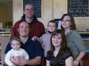 Our family opening the expanded meat store and cafe.